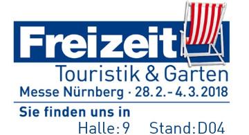 Die Allianz auf der Freizeitmesse 2018 in Nürnberg (Angabe der Hallen- und Standnummer)