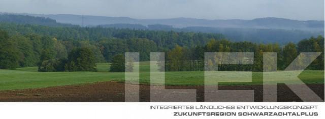 Landschaftsbild aus der Region. (Acker, Wiesen und Wald)